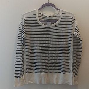 Loft black and white sweater size M